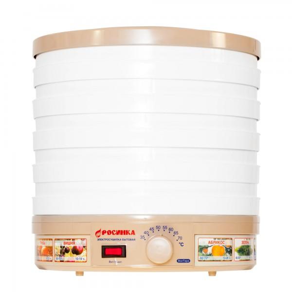 Электросушилка бытовая ЭСБ-1118-300 «Росинка» (для сушки овощей и фруктов) корпус белый, решета и крышка прозрачные