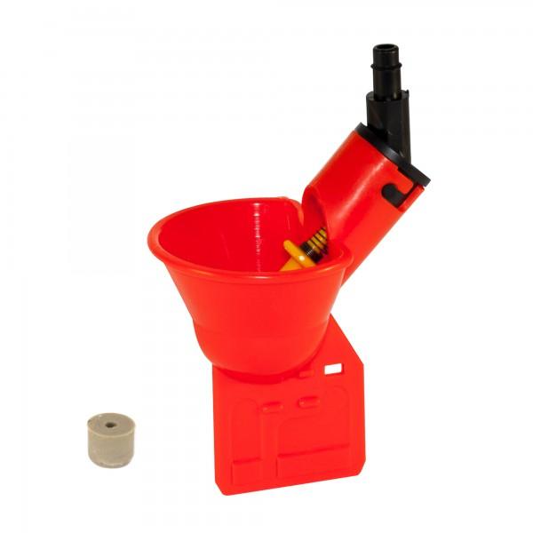 Микрочашечная поилка  ПП-01 (со штуцером под пластиковую трубку с внутренним диаметром 6 мм) с резиновым клапаном