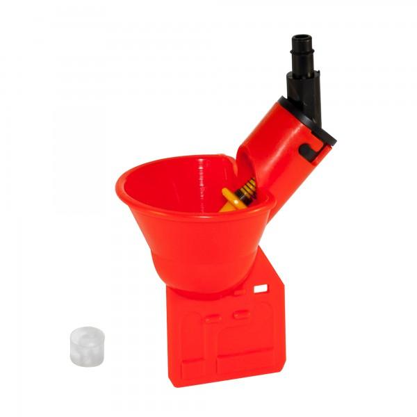 Микрочашечная поилка  ПП-01 (со штуцером под пластиковую трубку с внутренним диаметром 6 мм) с силиконовым клапаном