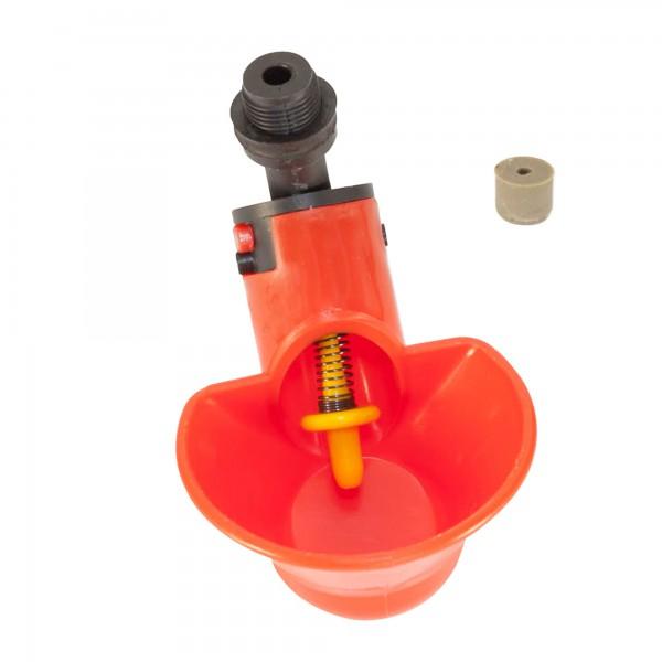Микрочашечная поилка  ПП-02 (со штуцером с резьбой М12х1) с резиновым клапаном