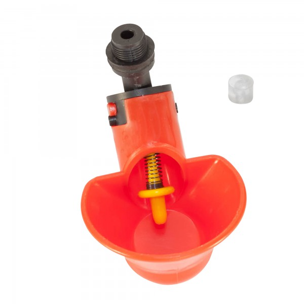 Микрочашечная поилка  ПП-02 (со штуцером с резьбой М12х1) с силиконовым клапаном