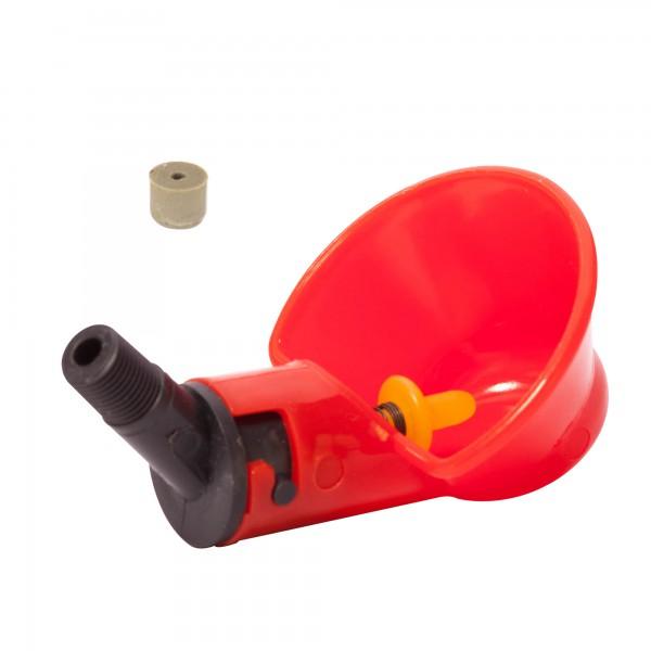 """Микрочашечная поилка  ПП-03 (со штуцером с резьбой  К 1/8"""") с резиновым клапаном"""