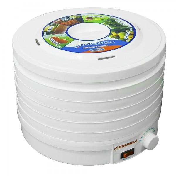 Электросушилка бытовая ЭСБ-1118-300 «Росинка» (для сушки овощей и фруктов) корпус белый, решета и крышка полупрозрачные бирюзовые
